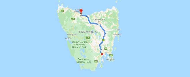 Hobart to Penguin